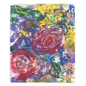 Decorative Fleece Throw Blankets | Shay Livenspargar - Rose Bliss | Colorful Abstract