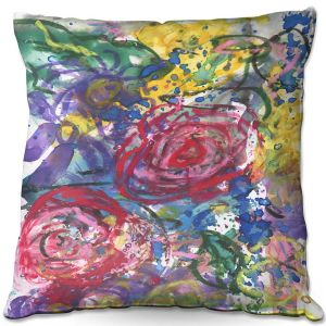 Throw Pillows Decorative Artistic | Shay Livenspargar - Rose Bliss | Colorful Abstract