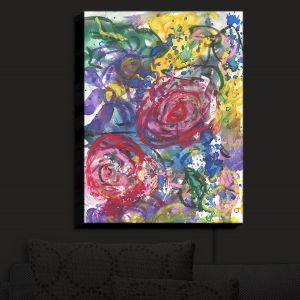Nightlight Sconce Canvas Light | Shay Livenspargar - Rose Bliss | Colorful Abstract