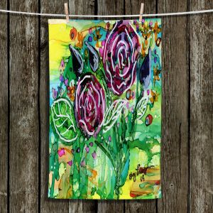 Unique Hanging Tea Towels   Shay Livenspargar - Rose Bouquet   Florals Flowers Abstract
