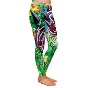 Casual Comfortable Leggings | Shay Livenspargar - Rose Bouquet | Florals Flowers Abstract
