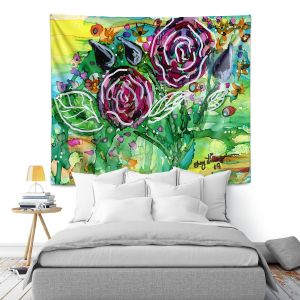 Artistic Wall Tapestry | Shay Livenspargar - Rose Bouquet | Florals Flowers Abstract
