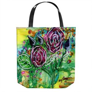 Unique Shoulder Bag Tote Bags | Shay Livenspargar - Rose Bouquet | Florals Flowers Abstract