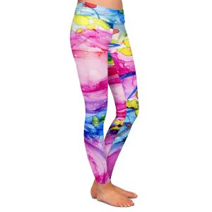 Casual Comfortable Leggings | Shay Livenspargar - Rose Surrender | Florals Flowers Abstract