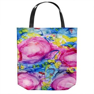 Unique Shoulder Bag Tote Bags | Shay Livenspargar - Rose Surrender | Florals Flowers Abstract