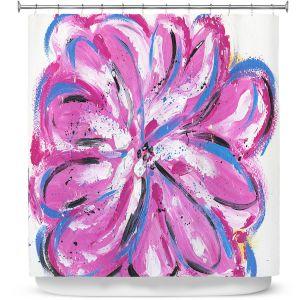 Premium Shower Curtains | Shay Livenspargar - Rose Bud