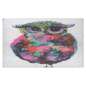 Artistic Pashmina Scarf | Shay Livenspargar - Ruby Owl | Animals Birds Owls Nature