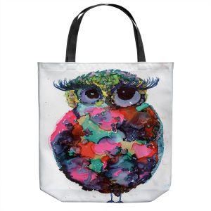 Unique Shoulder Bag Tote Bags | Shay Livenspargar - Ruby Owl | Animals Birds Owls Nature