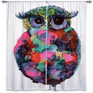 Decorative Window Treatments | Shay Livenspargar - Ruby Owl | Animals Birds Owls Nature