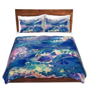 Artistic Duvet Covers and Shams Bedding | Shay Livenspargar - Sea Life | Abstract Ocean