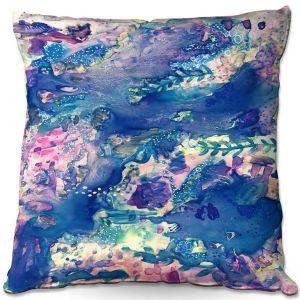 Decorative Outdoor Patio Pillow Cushion | Shay Livenspargar - Sea Life | Abstract Ocean