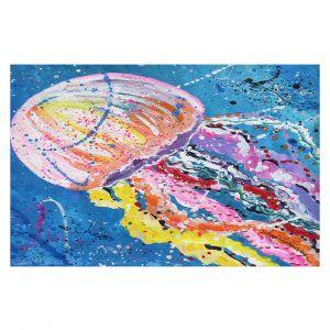 Decorative Floor Covering Mats | Shay Livenspargar - Stinger | Jellyfish colorul