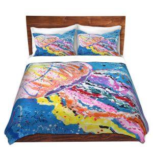 Artistic Duvet Covers and Shams Bedding | Shay Livenspargar - Stinger | Jellyfish colorul