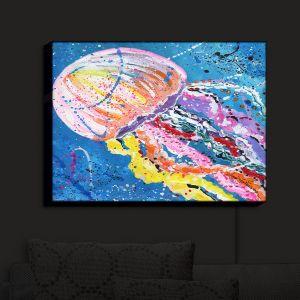 Nightlight Sconce Canvas Light   Shay Livenspargar - Stinger   Jellyfish colorul