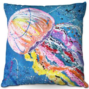 Throw Pillows Decorative Artistic | Shay Livenspargar - Stinger | Jellyfish colorul