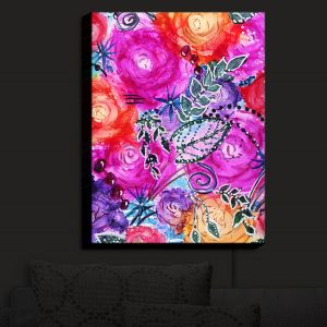 Nightlight Sconce Canvas Light | Shay Livenspargar - Swept Away | Flowers Floral Abstract Colorful