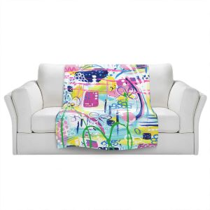 Artistic Sherpa Pile Blankets | Shay Livenspargar - Swirling | Abstract