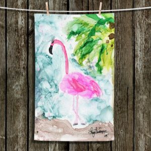 Unique Hanging Tea Towels | Shay Livenspargar - Tropical Flamingo