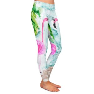 Casual Comfortable Leggings | Shay Livenspargar - Tropical Flamingo