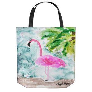 Unique Shoulder Bag Tote Bags | Shay Livenspargar - Tropical Flamingo | Wild Animal Bird