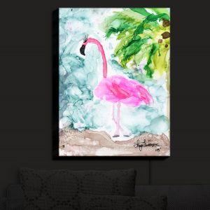 Nightlight Sconce Canvas Light   Shay Livenspargar - Tropical Flamingo   Wild Animal Bird