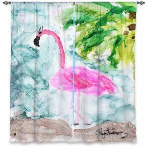 Decorative Window Treatments | Shay Livenspargar - Tropical Flamingo | Wild Animal Bird