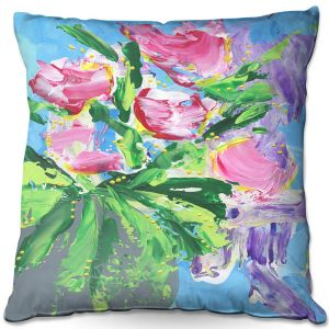 Throw Pillows Decorative Artistic | Shay Livenspargar - Tulip Love | Flowers Floral Abstract Colorful