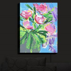 Nightlight Sconce Canvas Light | Shay Livenspargar - Tulip Love | Flowers Floral Abstract Colorful