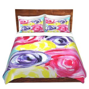 Artistic Duvet Covers and Shams Bedding | Shay Livenspargar - Unity Garden | Florals Flowers Abstract