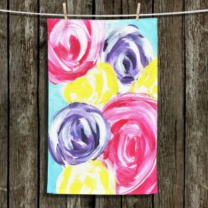 Unique Bathroom Towels | Shay Livenspargar - Unity Garden | Florals Flowers Abstract