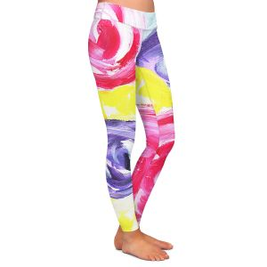 Casual Comfortable Leggings   Shay Livenspargar - Unity Garden   Florals Flowers Abstract