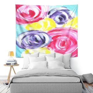Artistic Wall Tapestry | Shay Livenspargar - Unity Garden | Florals Flowers Abstract