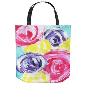 Unique Shoulder Bag Tote Bags | Shay Livenspargar - Unity Garden | Florals Flowers Abstract