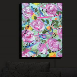 Nightlight Sconce Canvas Light | Shay Livenspargar - Whimsical Garden | Flowers Floral Abstract