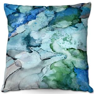 Decorative Outdoor Patio Pillow Cushion | Shay Livenspargar - Whisper | Abstract Clouds Sky