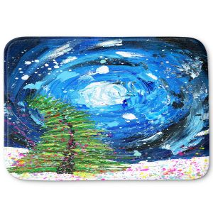 Decorative Bathroom Mats | Shay Livenspargar - Winter Wonderland | Christmas Tree Moonlight Colorful