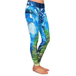 Casual Comfortable Leggings | Shay Livenspargar - Winter Wonderland | Christmas Tree Moonlight Colorful