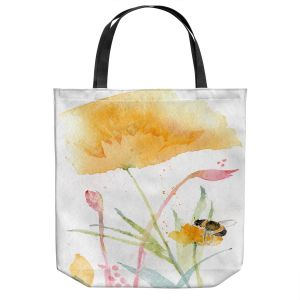 Unique Shoulder Bag Tote Bags   Sheila Golden - Bee and Flower   Insects Bugs Nature Flowers