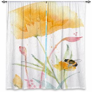 Decorative Window Treatments | Sheila Golden - Bee and Flower | Insects Bugs Nature Flowers