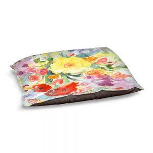 Decorative Dog Pet Beds | Sheila Golden - Blue Flowers Bouquet | Flowers Nature