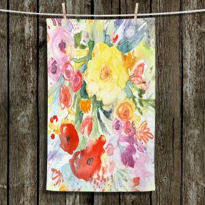 Unique Bathroom Towels | Sheila Golden - Blue Flowers Bouquet | Flowers Nature