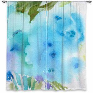 Decorative Window Treatments | Sheila Golden - Blue Flowers | Flowers Nature