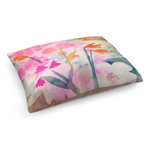 Decorative Dog Pet Beds | Sheila Golden - Dragonfly 3 | flower nature insect silhouette