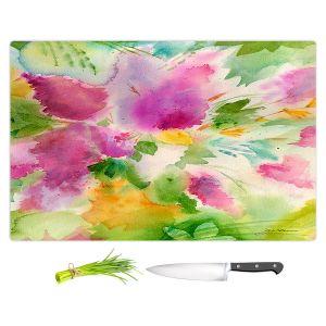 Artistic Kitchen Bar Cutting Boards | Sheila Golden - Lilacs | flower nature watercolor