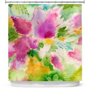 Premium Shower Curtains | Sheila Golden - Lilacs | flower nature watercolor