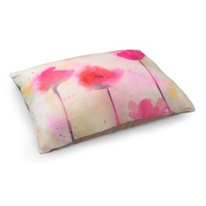 Decorative Dog Pet Beds | Sheila Golden - Pink Poppy Dreams | flower simple silhouette