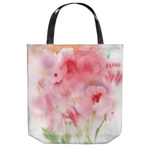 Unique Shoulder Bag Tote Bags   Sheila Golden - Pink and Orange Flowers   Flowers Nature