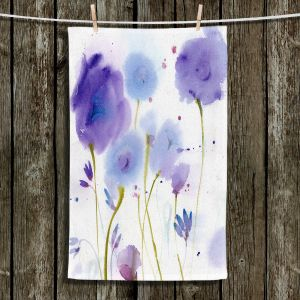Unique Bathroom Towels   Sheila Golden - Purple Blossoms   flower watercolor nature