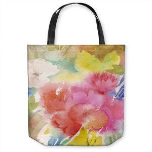 Unique Shoulder Bag Tote Bags   Sheila Golden - Sonoma Garden   flower watercolor abstract