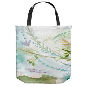 Unique Shoulder Bag Tote Bags | Sheila Golden - Teal Gold Flowers | Flowers Nature